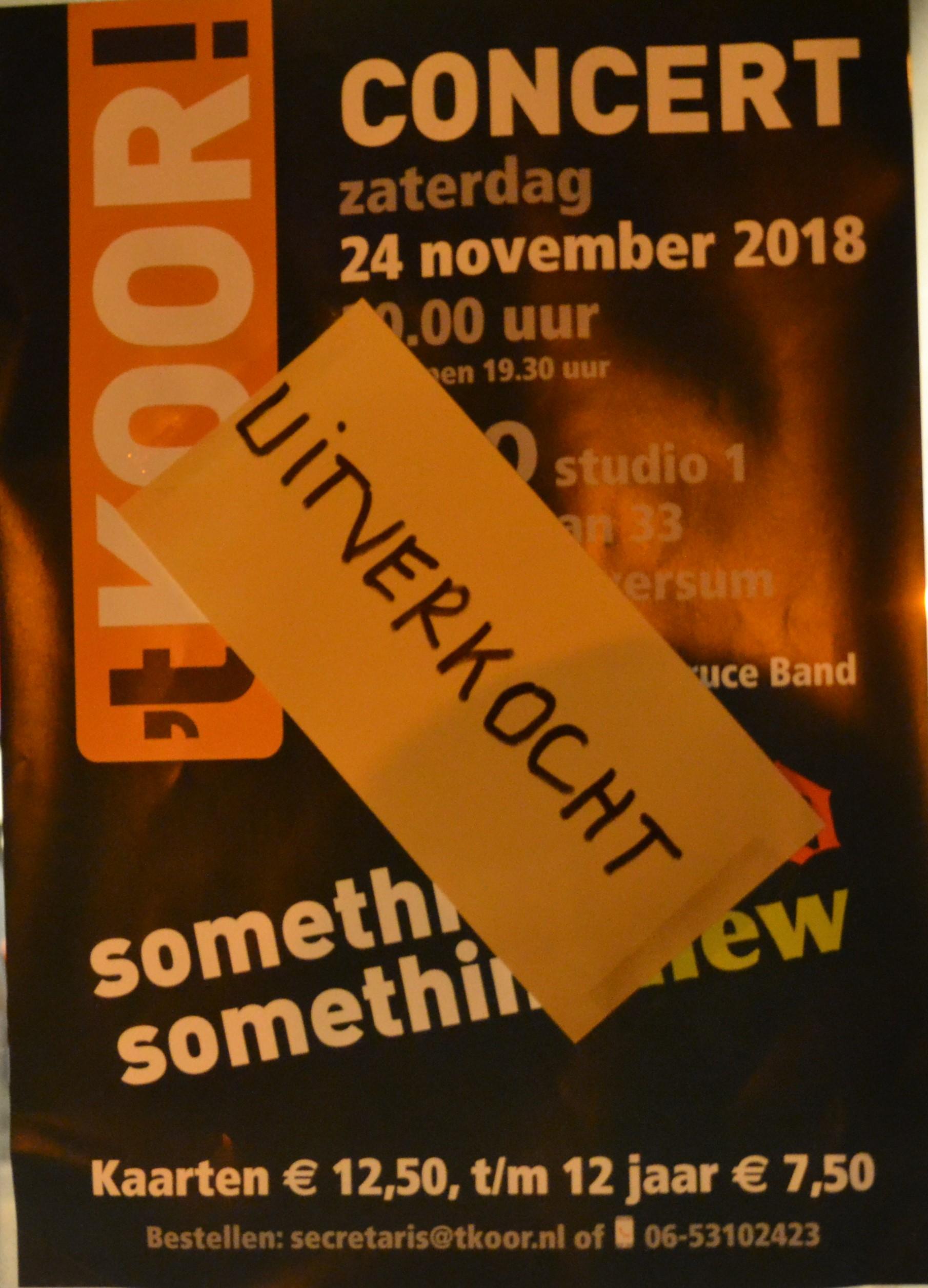 Concert 24 november 2018 in het MCO